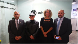 Minister Michael with Mr. Salvatore Giannatassio, Founder of Asincro, Mr. Gustavo Sol and Ms. Maria Teresa Torres head of the Senior Technical Team