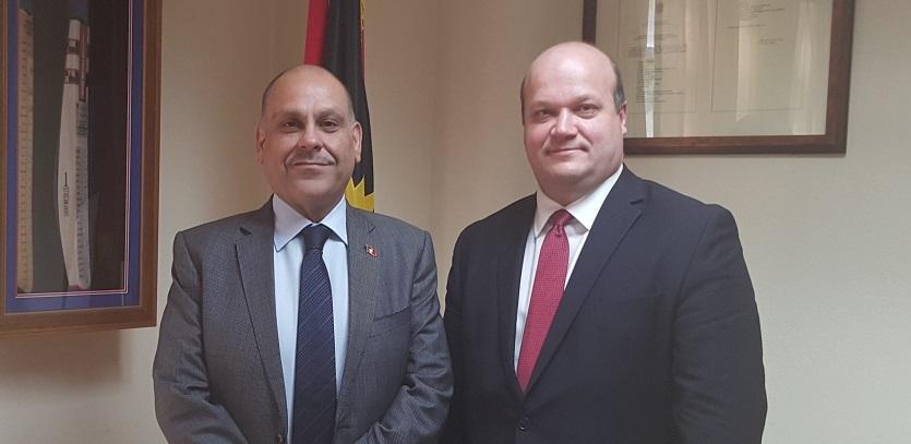 Hon Asot Michael and Ambassador Valeriy Chaly 1