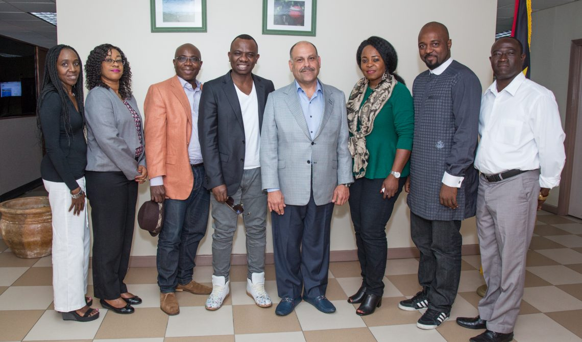 Nigerian filmakers meet Minister of Tourism February 24 2017 691900025Justin Peters 1