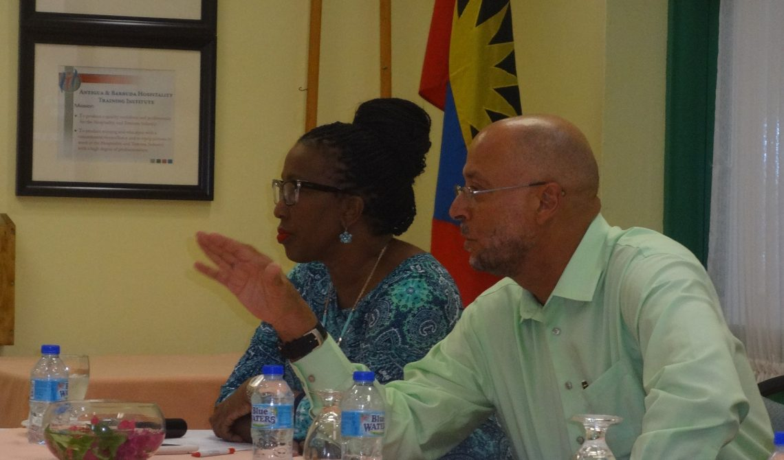 The Strategic Marketing Meeting was co chaired by Antigua and Barbuda Tourism Consultants Shirlene Nibbs and Richard Skerritt 1