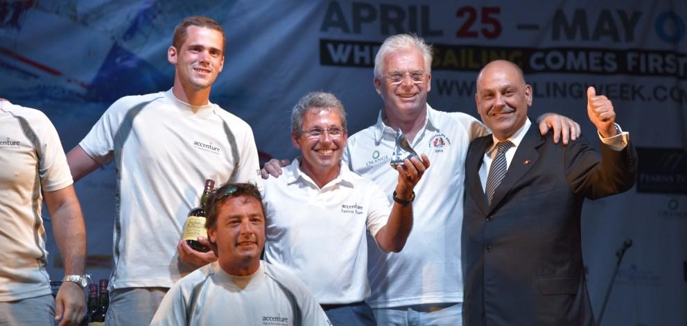 Albert Hartog and Asot Michael pose with winners 1